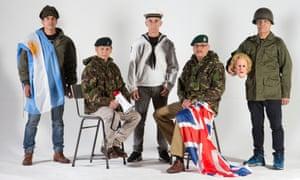 Falklands/Malvinas war veterans Marcelo Vallejo, Sukrim Rai, Ruben Otero, David Jackson and Gabriel Sagastume.