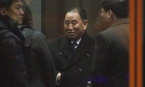 Kim Yong-chol waits at Beijing airport for his flight to Washington DC