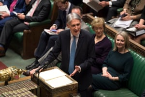 The Chancellor of the Exchequer Philip Hammond delivers his Spring Statement in the House of Commons yesterday