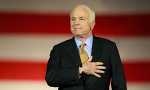 John McCain concedes defeat to Barack Obama during the election night rally in Phoenix, Arizona, on 4 November 2008.