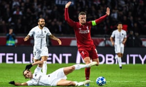 Jordan Henderson and his fellow midfielders struggled in Paris.