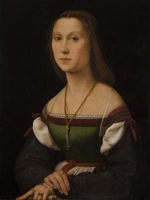 Art theft: Raphael's The Mute Woman