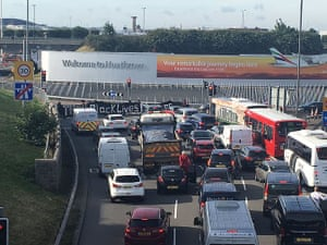 Traffic outside Heathrow
