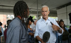Jon Snow was confronted by local residents while reporting on the Grenfell Tower fire.