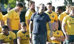 Australia coach, Michael Cheika, during the team photo