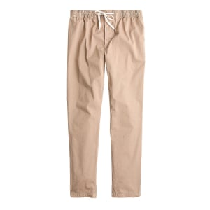 beige trousers with gathered waist JCrew