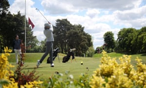 Tommy Fleetwood returns to practice at Sandiway golf club in Cheshire.