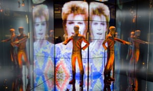 A David Bowie costume displayed at the Victoria and Albert Museum in 2013.