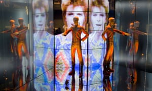 Starman costume from Top of the Pops in 1972 at the David Bowie Is exhibition at the V&A in 2013.