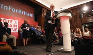 Jeremy Corbyn speaking at the Institute of Engineering and Technology on the EU.