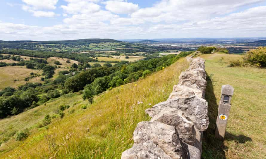 The Cotswold Way at Crickley Hill.