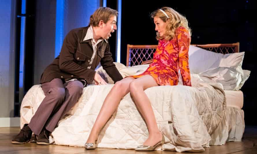 Bedtime story … Edward Bennett and Nancy Carroll in Betrayal.