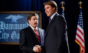 Zach Galifianakis and Will Ferrell in The Campaign (2012). Photograph: Allstar/Warner Bros Pictures