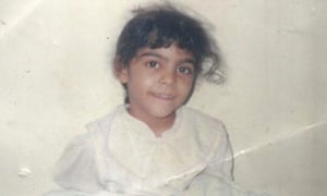 A photograph released by Israa al-Ghomgham's supporters showing her as a young girl.