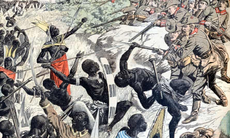 Detail of Battle Between Herero Warriors and German Colonials, February 1904.
