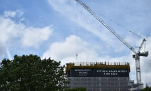 Flats being built in south-east London