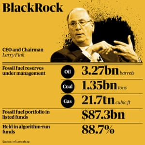 Fossil fuel holdings: BlackRock
