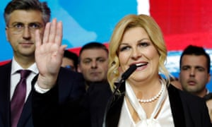 Kolinda Grabar-Kitarović is leaving her position in February after losing the election.