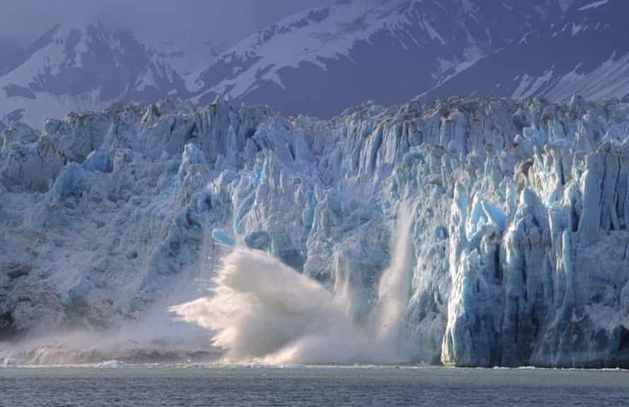 The Calving Hubbard Glacier near Yakutak.