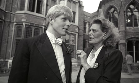 Boris Johnson with the Greek actor and politician Melina Mercouri in 1986 after he invited her to debate the Elgin marbles.