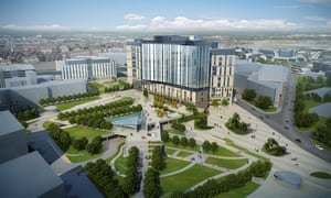 The design for the new Royal Liverpool University Hospital features a landscaped 'health campus'.