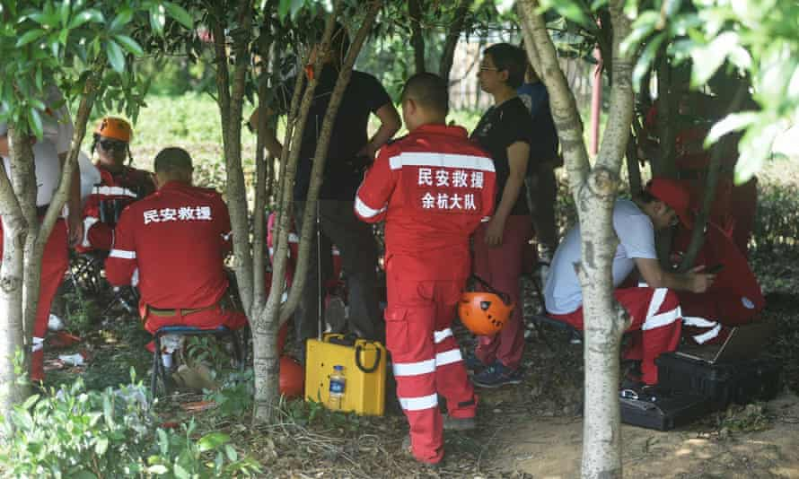 Rescuers searching for leopards that escaped from a wild park in Hangzhou, in China's eastern Zhejiang province.
