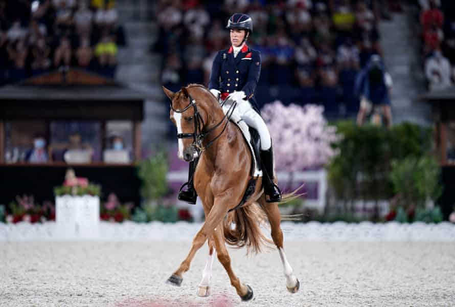 Charlotte Dujardin and Gio in action