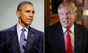 Barack Obama and Donald Trump composite