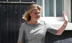 Justine Greening arrives at 10 Downing Street.