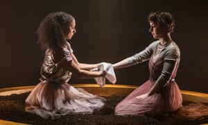 Rachel Hosker and Annabel Baldwin in Antigone
