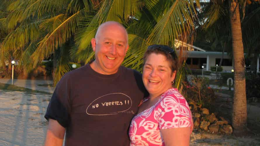 The couple on holiday in 2009.