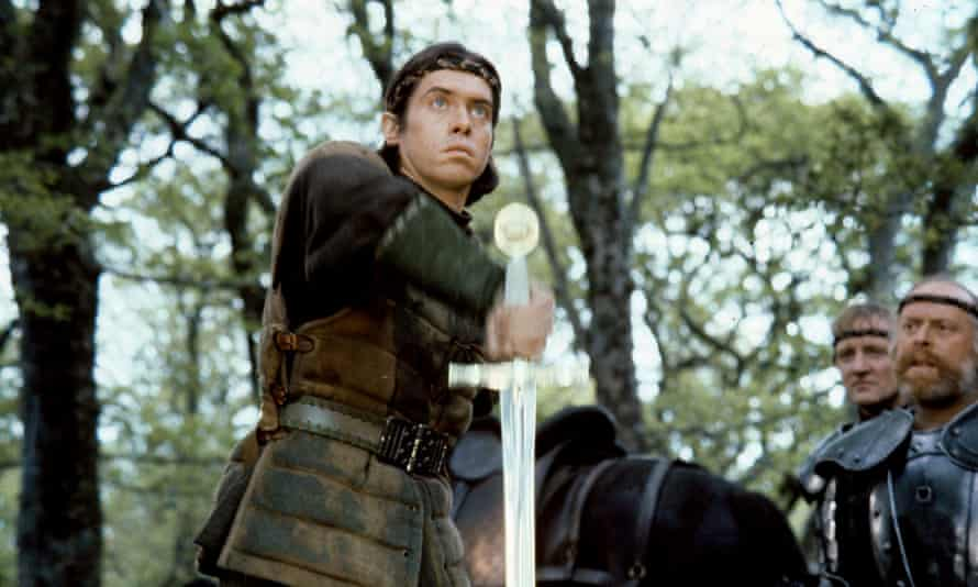 King Arthur (Nigel Terry) draws Excalibur in the 1981 film of that name (see question 6:1). Photograph: Allstar/Warner Bros