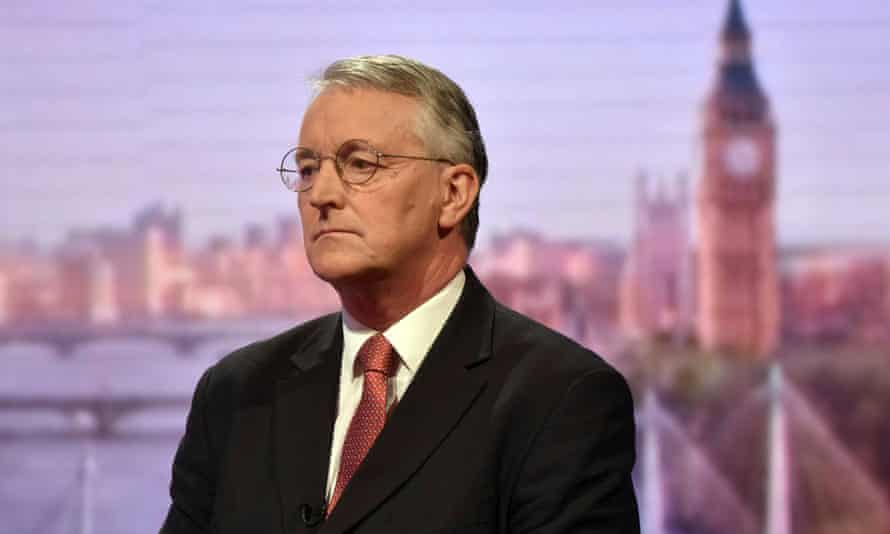 Former shadow foreign secretary Hilary Benn appears on the BBC's Andrew Marr Show on Sunday.