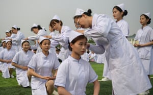 Jinan, China Nursing students attend a capping ceremony in Shandong province