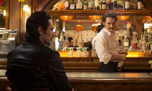 'James Franco headlines the series as a pair of mustachioed twin brothers, contrasting portraits of battered moralism and oily self-interest' ... The Deuce.