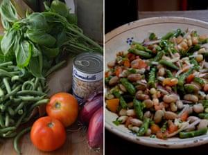 Rachel Roddy's three bean salad.