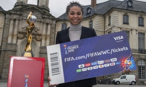 The former France international Laura Georges pictured in Rennes on Monday, before the ticket problems came to light.
