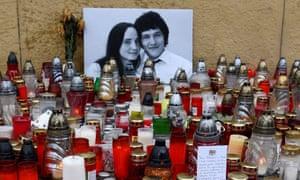 Tributes to Ján Kuciak and Martina Kusnirova
