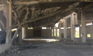 The warehouse next to where the missile landed – now an abandoned space covered in dust.