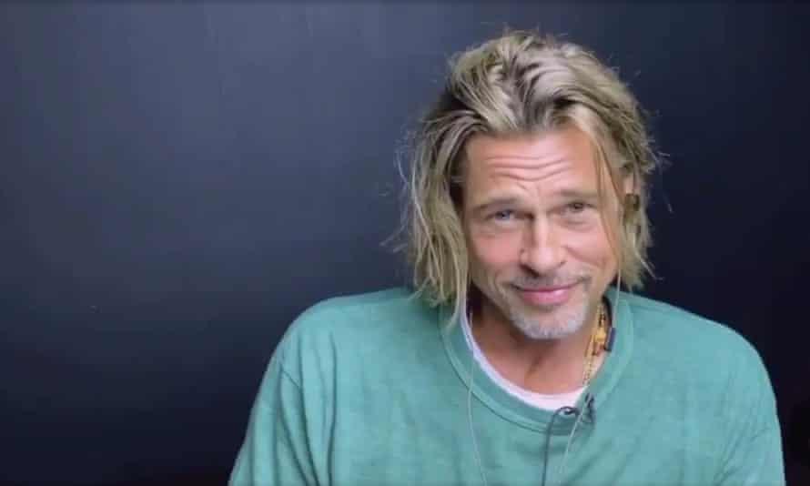 Screengrab showing Brad Pitt during a read-through of Fast Times at Ridgemont High.