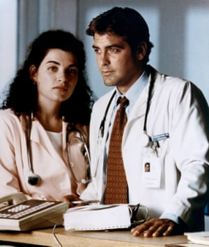 Nobody was bigger than the show … Julianna Margulies and George Clooney in ER.