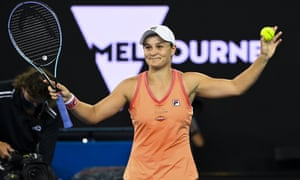 Ashl Barty wind the Yarra Valley Classic on Sunday.