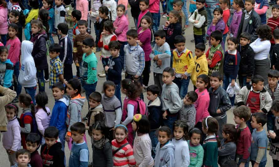 Syrian refugees students in northern Beirut, Lebanon. The World Food Programme says its work to feed 1.5 million Syrian refugees has faced serious cuts due to a lack of funds.