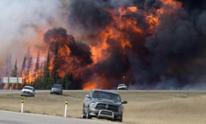 One front of the Fort McMurray wildfire in a 7 May photograph.