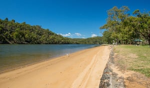 Burranwang beach picnic area in the Georges River national park.