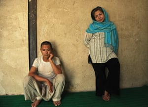 Laila Haidari stands alongside one of the Mother Camp residents.