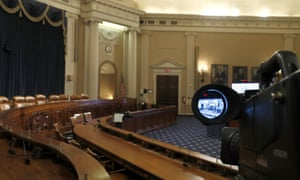 The congressional committee room where the house will begin public impeachment hearings on Wednesday.