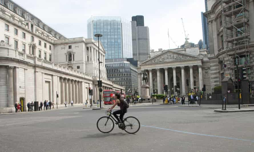 Traffic-free Bank junction following the new restrictions on 22 May