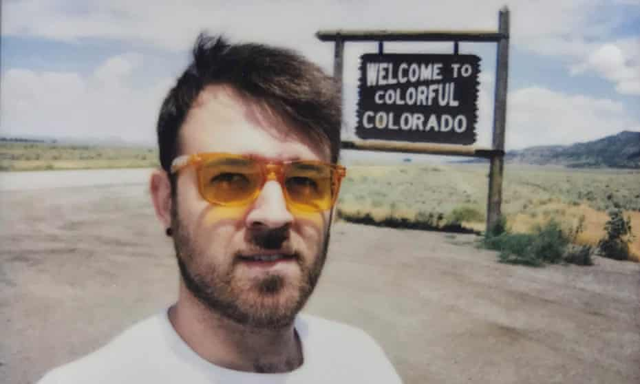 Alex pictured on the road.