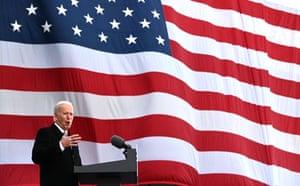 Joe Biden speaks at on 19 January 2021, in New Castle, Delaware
